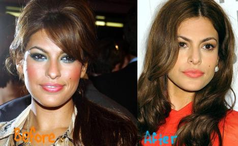 Eva Mendes Nose Job Plastic Surgery Before And After