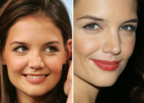 Katie Holmes Nose Job Before and After Pictures