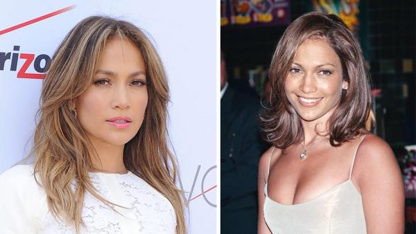 jennifer lopez nose job before and after pictures