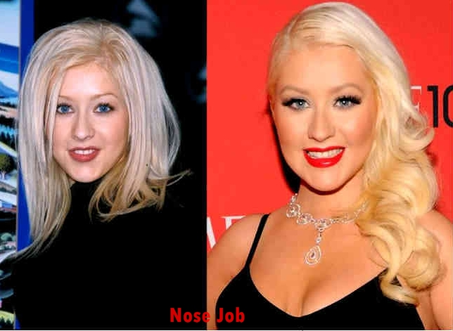 Christina Aguilera Nose Job Plastic Surgery Before And