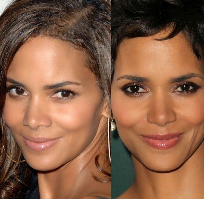 Halle Berry Nose Job before and after photos, pictures