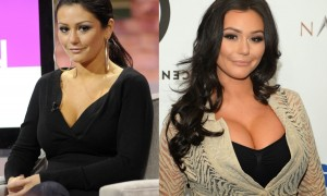Jenni Jwoww Farley breast implants plastic surgery before and after boobs job