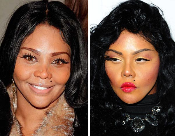 Lil Kim nose job plastic Surgery before and After Photos