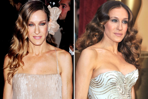 Sarah Jessica Parker breast implants before and after boob job photos 1