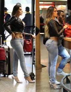 Andressa Urach Miss Bum Bum plastic surgery before and after photos 1