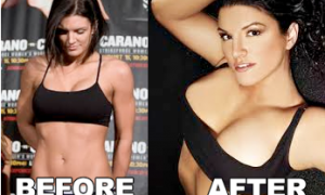 Gina carano breast implants plastic surgery before and after photos