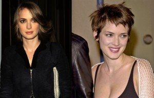 Winona Ryder nose job plastic surgery before and after pictures 2