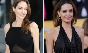 Angelina Jolie Double Mastectomy Surgery Before and After Pictures