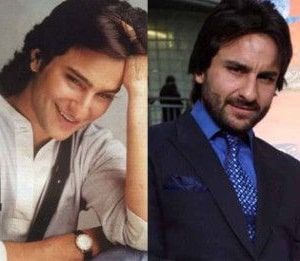 Bollywood Male Actors Plastic Surgery Before and After Photos Saif Ali Khan
