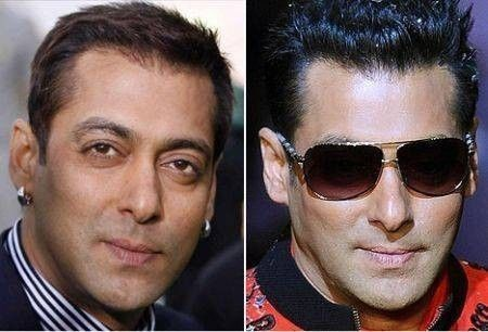 Bollywood Male Actors Plastic Surgery Before and After Photos Salman Khan