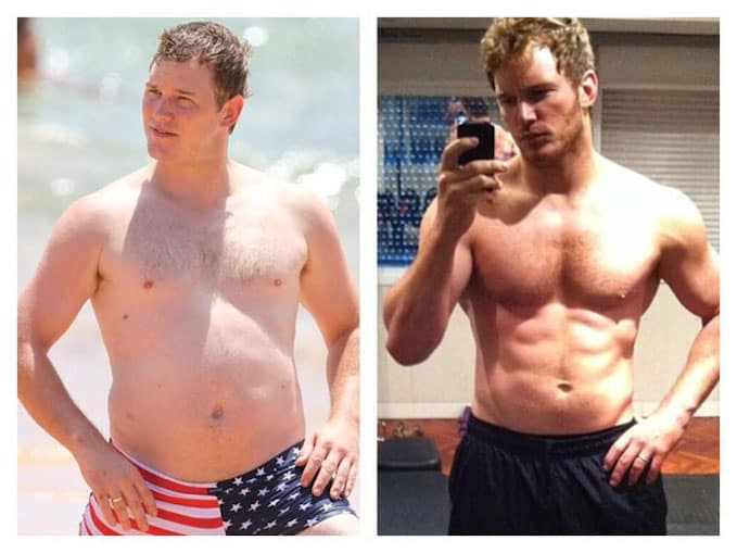 Chris Pratt Weight Loss Workout Before And After Photos